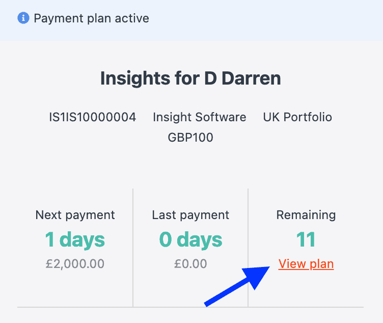 CollectIC Payment plan cancel 1