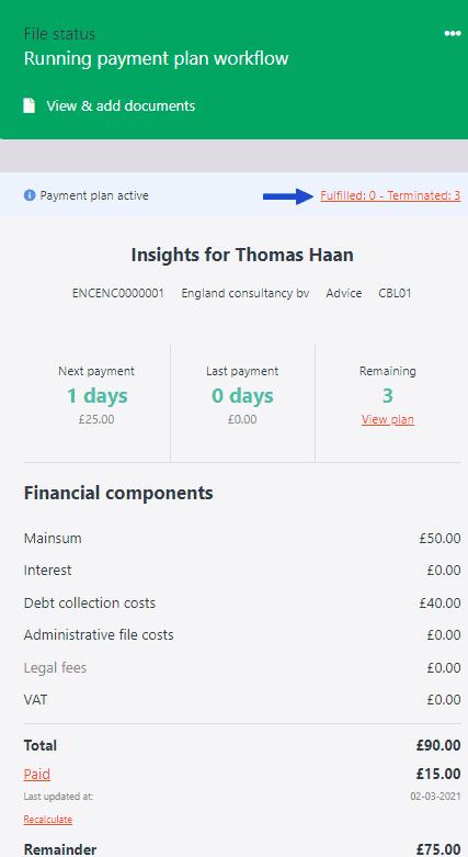 Paymentplan details 1